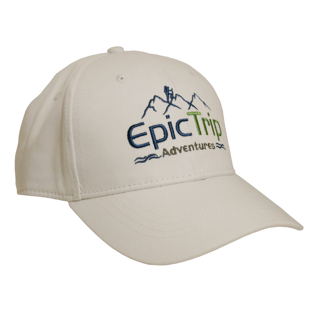 White Baseball Cap - Epic Trip Adventures