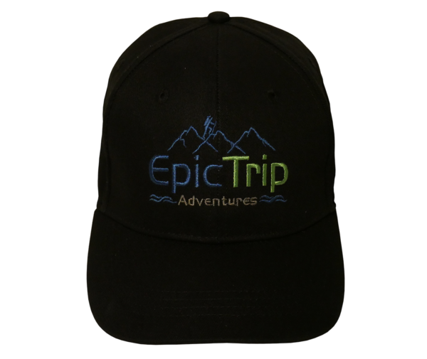 Black Baseball Cap Front - Epic Trip Adventures