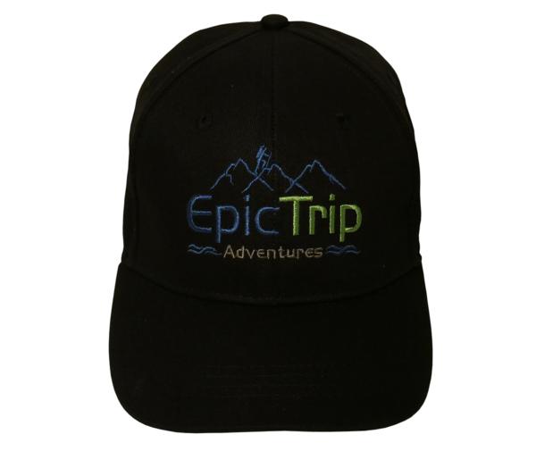 Black Baseball Cap Front - Epic Trip Adventures
