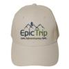 White Baseball Cap Front - Epic Trip Adventures