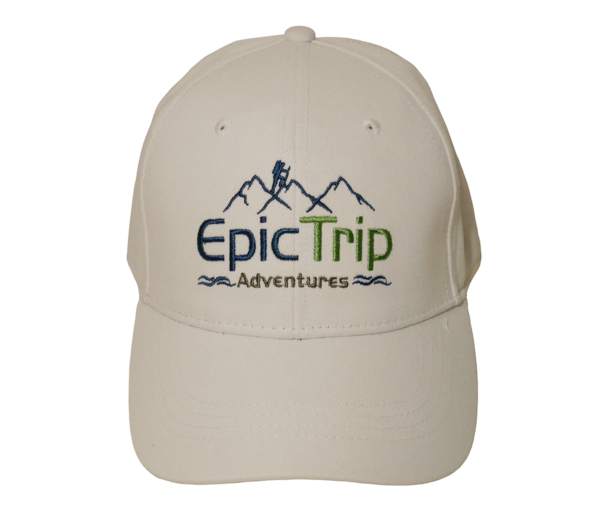 White Baseball Cap Front - Epic Trip Adventures