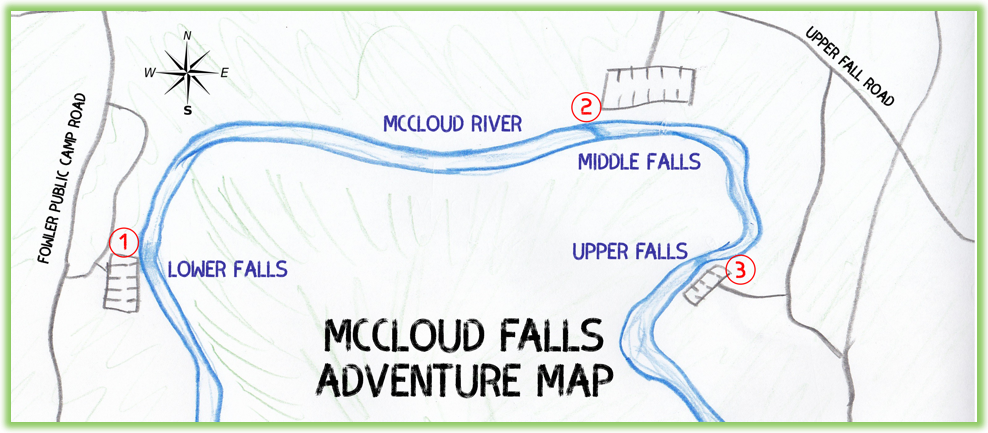 McCloud Falls Adventure Map - California - Epic Trip Adventures