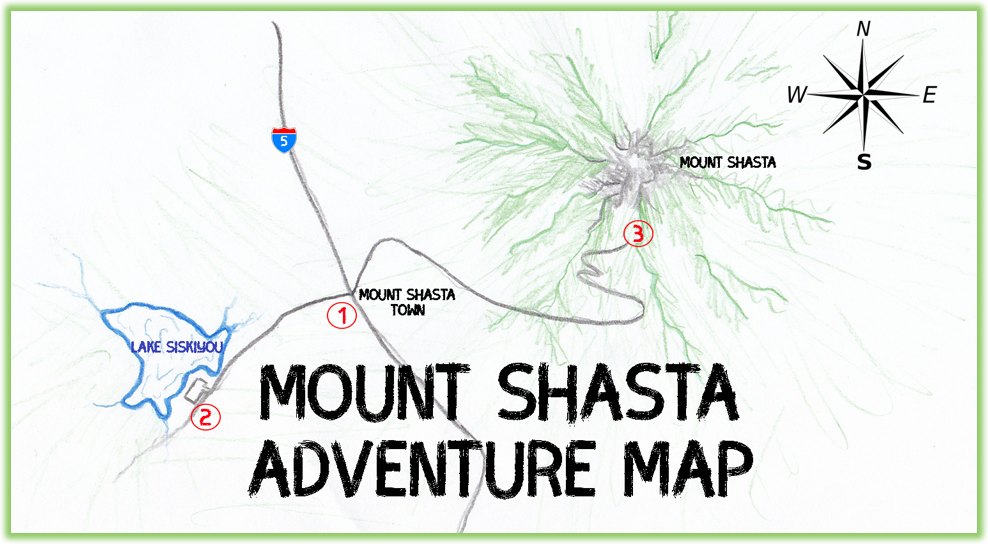 Mount Shasta Adventure Map - California - Epic Trip Adventures