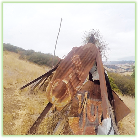 Reservoir Canyon Trail Scrap Metal Structure - California - Epic Trip Adventures