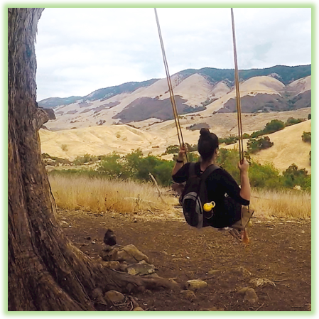 Reservoir Canyon Trail Swing Set - California - Epic Trip Adventures