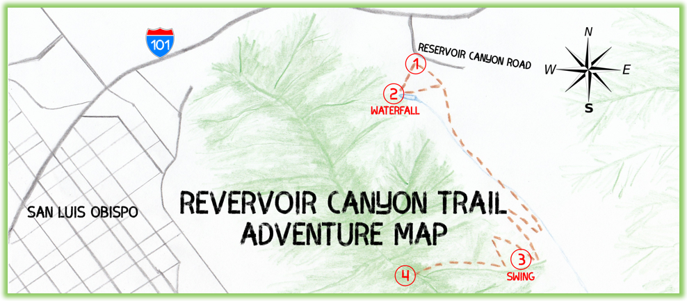 Reservoir Canyon Trail Adventure Map - California - Epic Trip Adventures