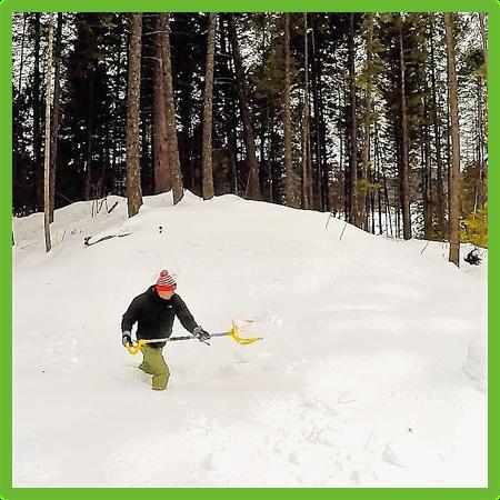 Mattson shovelling - Montana - Epic Trip Adventures
