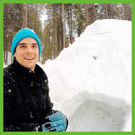 Anderson working on the door - Montana - Epic Trip Adventures