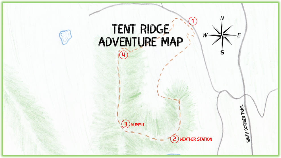 Tent Ridge Adventure Map - Kananaskis - Epic Trip Adventures