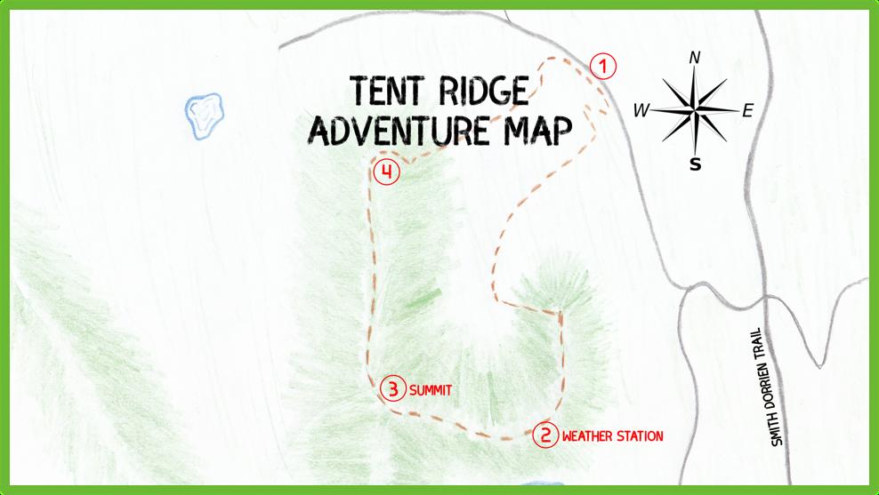 Tent Ridge Adventure Map - Kananaskis - Epic Trip Adventures
