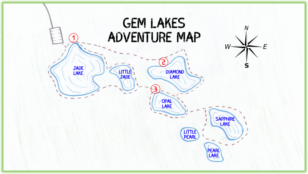 Gem Lakes Adventure Map - Saskatchewan - Epic Trip Adventures