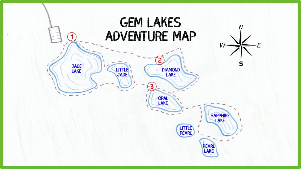 Gem Lakes Adventure Map - Saskatchewan - Epic Trip Adventures