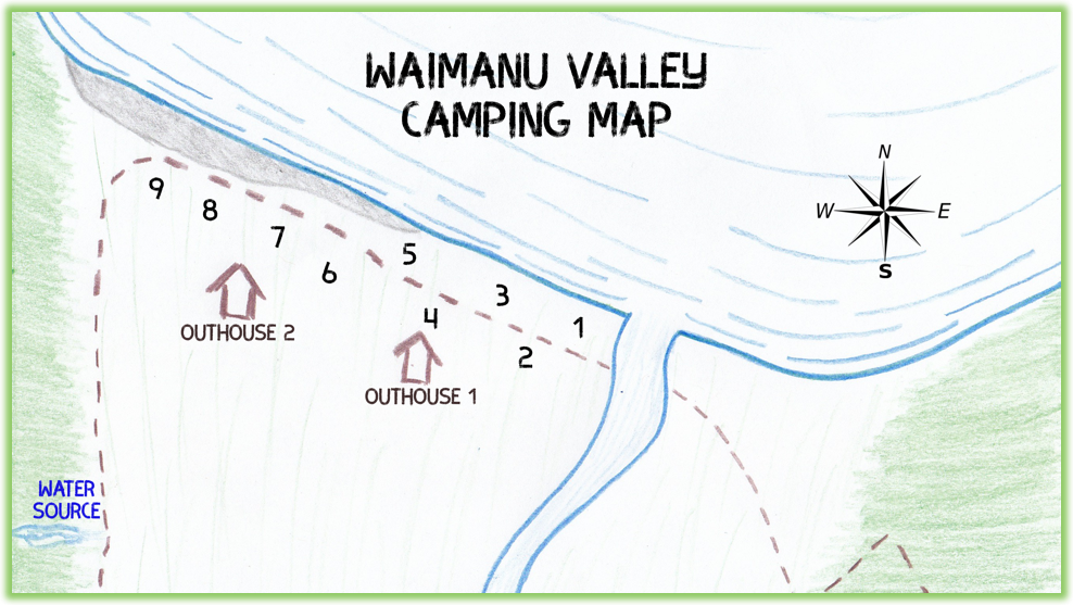 Waimanu Valley Camping Map - Hawaii Big Island - Epic Trip Adventures