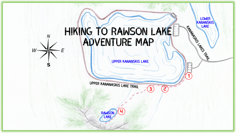 Rawson Lake Adventure Map - Kananaskis - Epic Trip Adventures