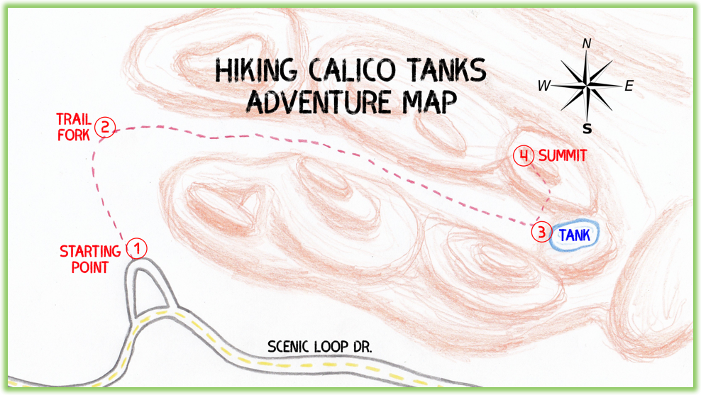 Calico Tanks Adventure Map - Red Rock Canyon - Epic Trip Adventures