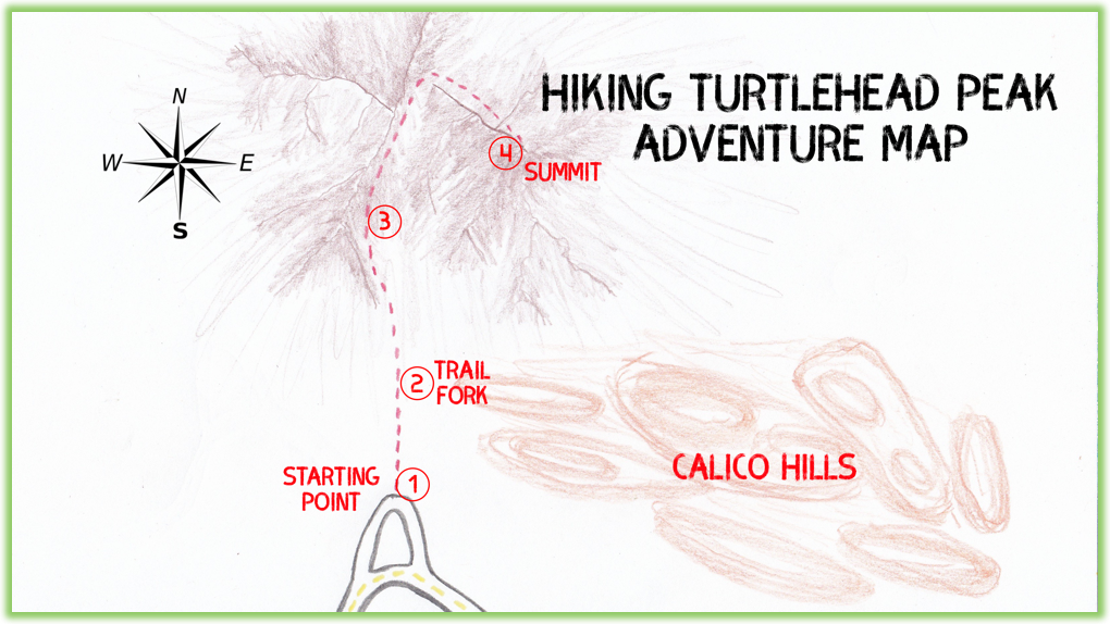 Turtlehead Peak Adventure Map - Red Rock Canyon - Epic Trip Adventures