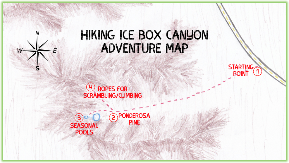 Ice Box Canyon Adventure Map - Red Rock Canyon - Epic Trip Adventures