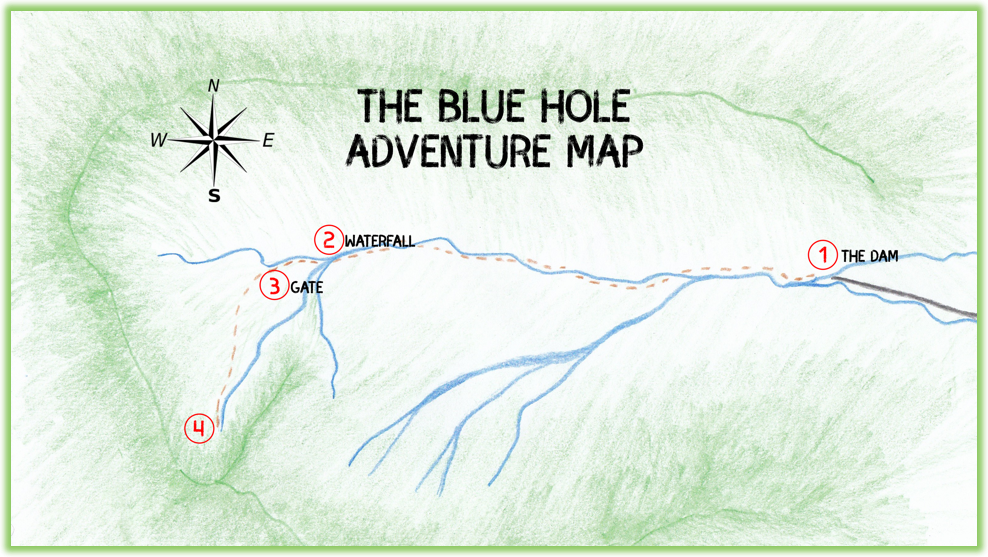 The Blue Hole Adventure Map - Kauai - Epic Trip Adventures