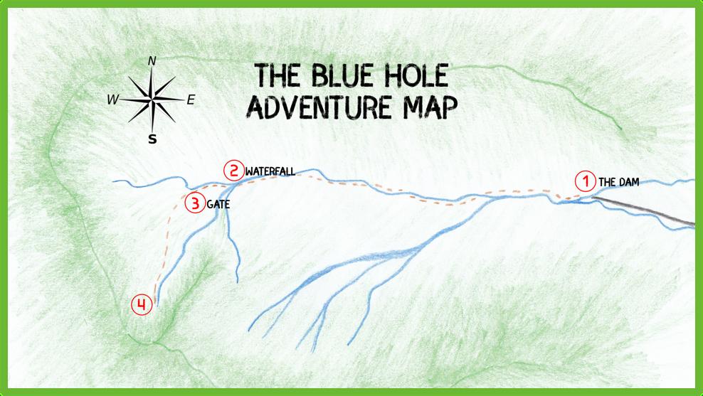 The Blue Hole Adventure Map - Kauai - Epic Trip Adventures