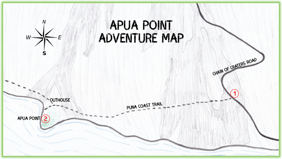Apua Point Adventure Map - Hawaii Big Island - Epic Trip Adventures
