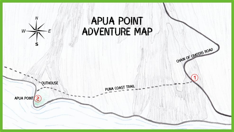 Apua Point Adventure Map - Hawaii Big Island - Epic Trip Adventures