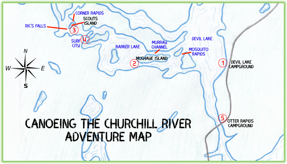 Canoeing The Churchill River Adventure Map - Saskatchewan- Epic Trip Adventures