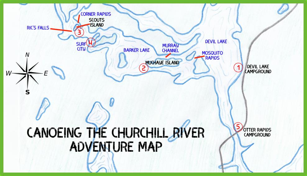 Canoeing The Churchill River Adventure Map - Saskatchewan- Epic Trip Adventures