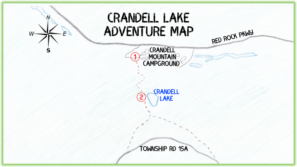 Crandell Lake Adventure Map - Waterton - Epic Trip Adventures