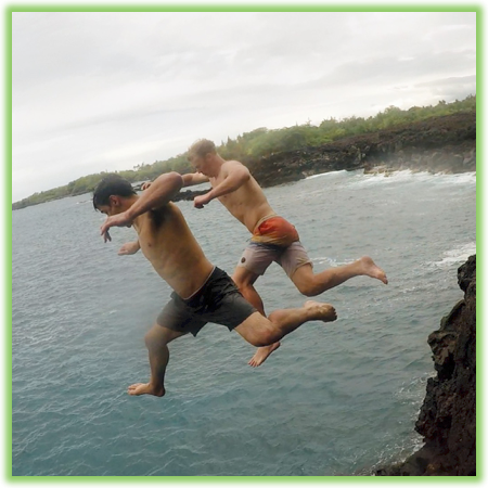 Cliff jumping at End Of The World - Hawaii Big Island - Epic Trip Adventures