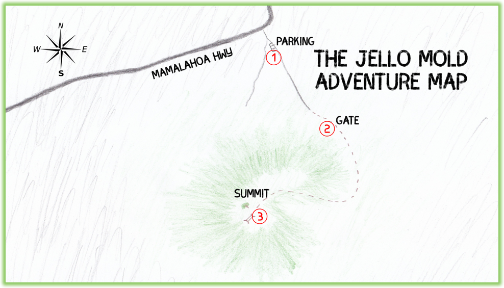 The Jello Mold Adventure Map - Hawaii Big Island - Epic Trip Adventures