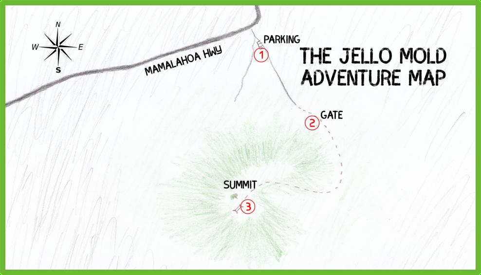 The Jello Mold Adventure Map - Hawaii Big Island - Epic Trip Adventures