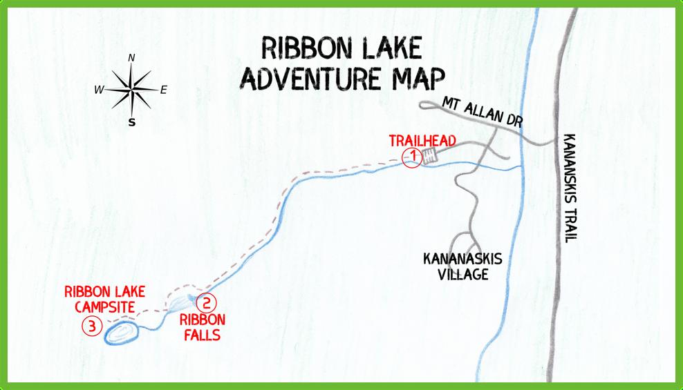 Ribbon Lake Adventure Map - Kananaskis - Epic Trip Adventures