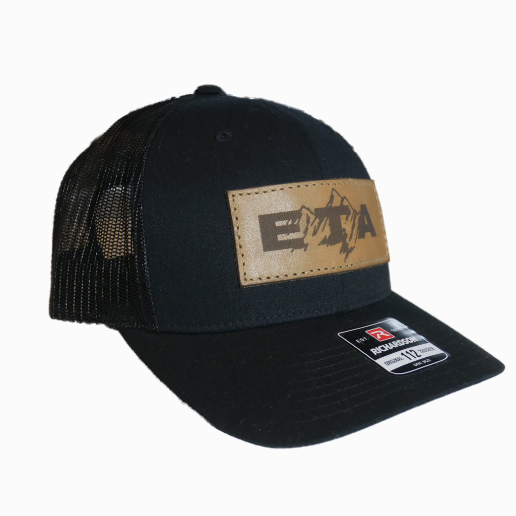 Black Leather Patch Snapback Hat - Epic Trip Adventures