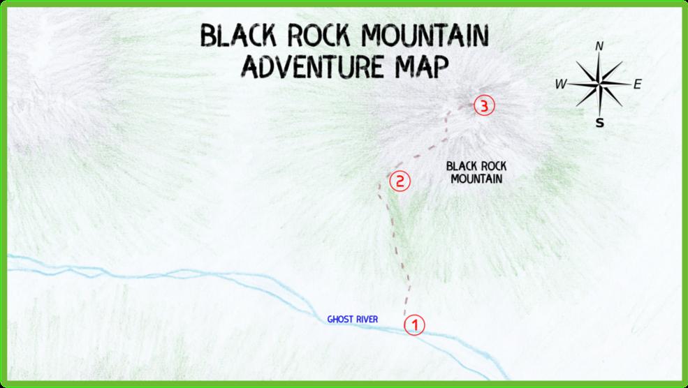 Black Rock Mountain Adventure Map - Ghost River - Epic Trip Adventures