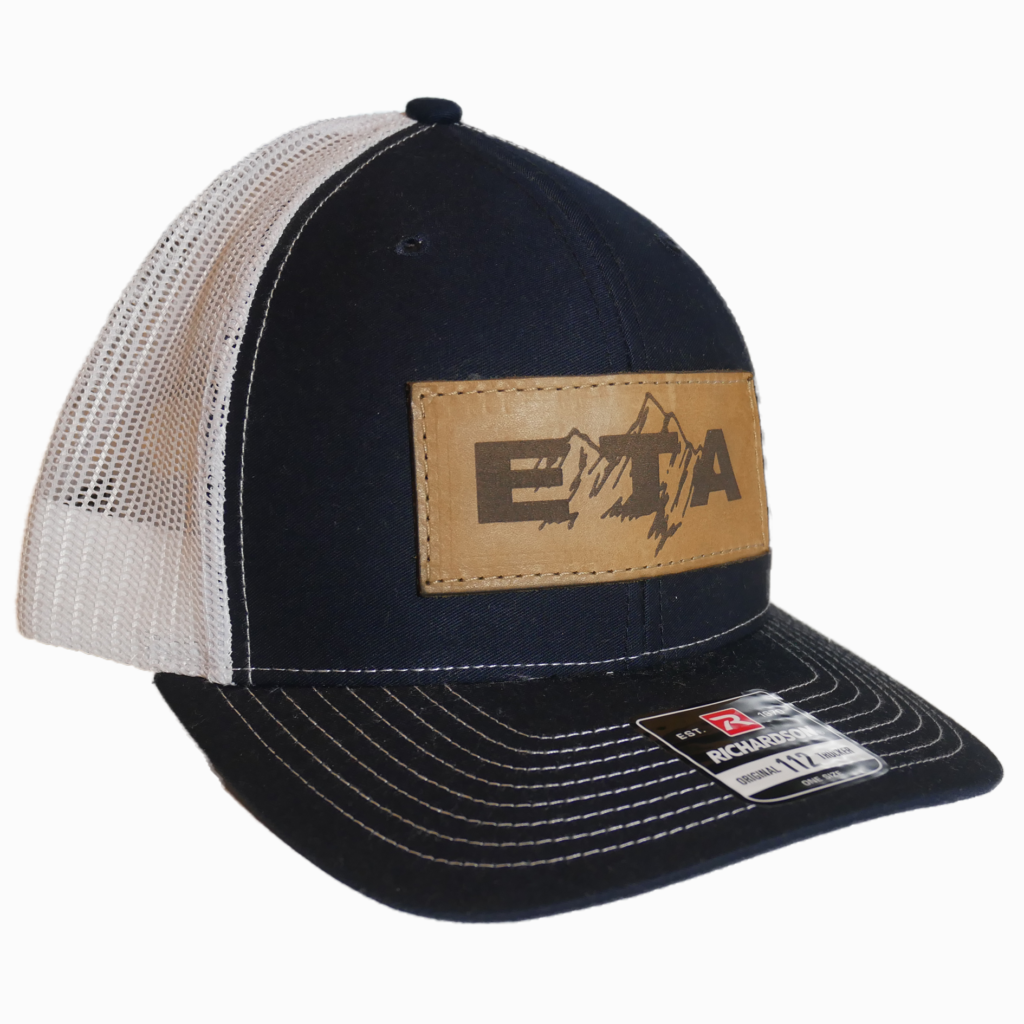 Navy Leather Patch Snapback Hat - Epic Trip Adventures
