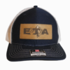 Navy Leather Patch Snapback Hat Front - Epic Trip Adventures
