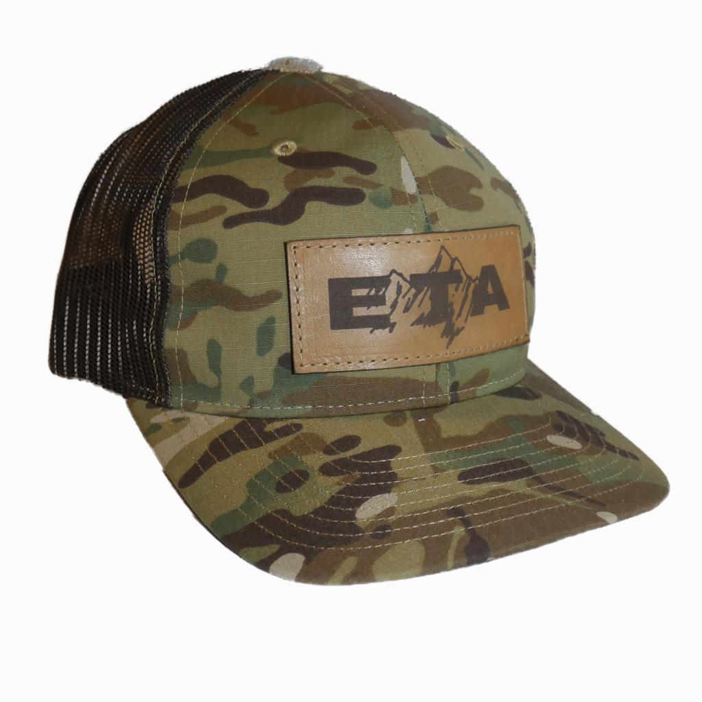 Camo Leather Patch Snapback Hat - Epic Trip Adventures