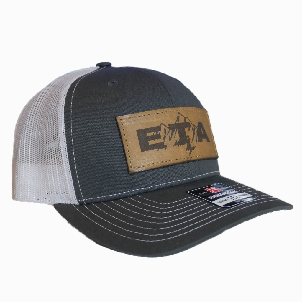 Grey Leather Patch Snapback Hat - Epic Trip Adventures