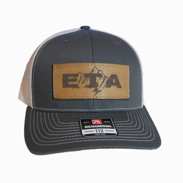 Grey Leather Patch Snapback Hat Front - Epic Trip Adventures