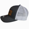 Grey Leather Patch Snapback Hat Side - Epic Trip Adventures