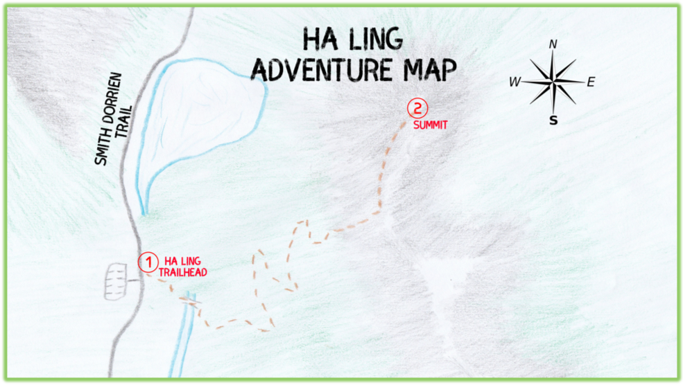 Ha Ling Adventure Map - Canmore - Epic Trip Adventures