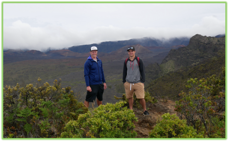 Mattson and Anderson Overlooking Haleakala Crater - Maui - Epic Trip Adventures