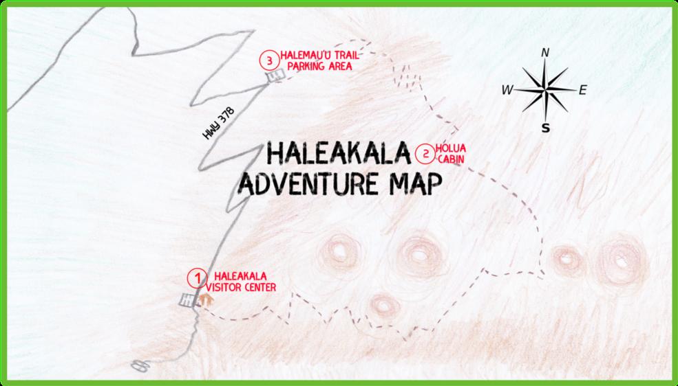 Haleakala Adventure Map- Maui - Epic Trip Adventures