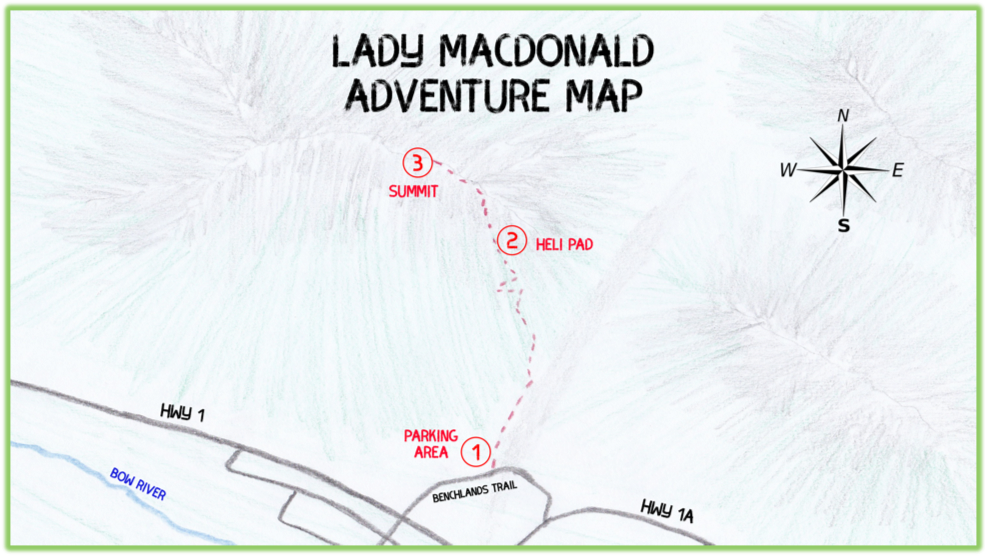 Lady Macdonald Adventure Map - Canmore - Epic Trip Adventures