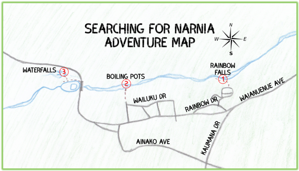 Searching For Narnia Adventure Map - Hawaii Big Island - Epic Trip Adventures