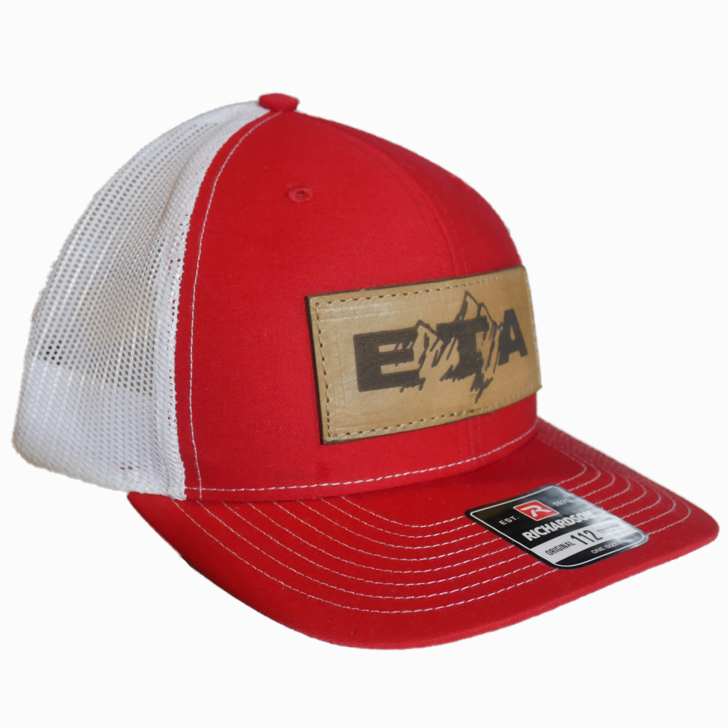 Red Leather Patch Snapback Hat - Epic Trip Adventures