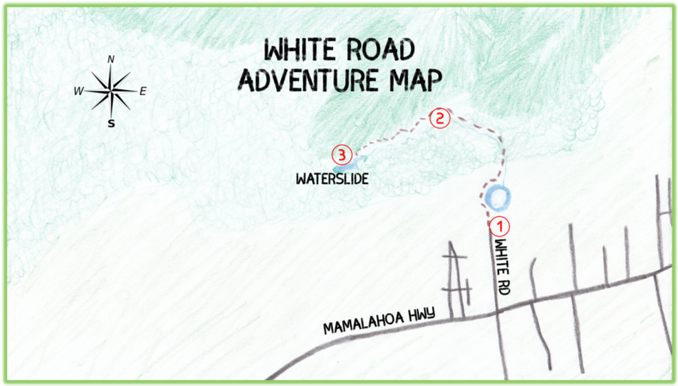 White Road Adventure Map - Hawaii Big Island - Epic Trip Adventures